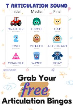 Articulation bingo is a fun refresh on articulation therapy activities. Best of all - these are FREE downloads that can be aq Speech Activities, Fun Activities For Kids, Therapy Activities, Preschool Special Education, Preschool Age, Teaching Life Skills, Coping Skills, Fun Learning, Learning Activities