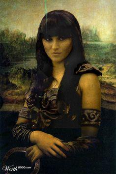 Mona- Xena Warrior Princess (My hero). Mona Lisa Parody, Mona Lisa Smile, Xena Warrior Princess, Fantasy Warrior, Woman Warrior, Cultura Pop, Hercules, Tv Shows, Culture