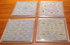 Coasters made with the groovi plates