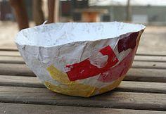 Paper mâché bowl craft for kids!