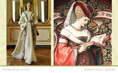 Idade Média Alexander McQueen Inverno 2010 Representação do designer de um quadro renascentista.  http://lumorazzi.blogspot.pt/2013/03/moda-historia-e-evolucao-idade-media.html