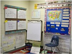 Grouping area with white boards. (Debbie Diller)