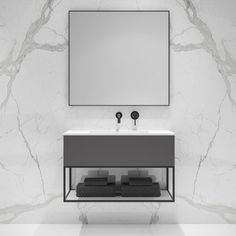 Lusso Modus Matte Anthracite and Black Steel Framed Bathroom Vanity Unit 900 Bathroom Sink Units, Black Vanity Bathroom, Bathroom Mirrors, Bathroom Photos, Bathroom Fixtures, Modern Bathroom Design, Bathroom Interior, Loft Bathroom, Basement Bathroom