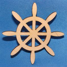 Unpainted Ships Wheel Wood Cutout   Wood Cutout   Wooden Shape   Unfinished Wood Cutouts and Shapes