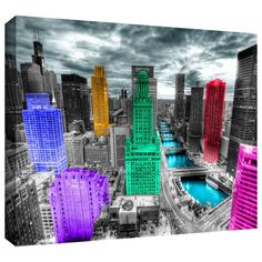 'Chicago' by Revolver Ocelot Graphic Art on Wrapped Canvas