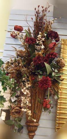 Ana Silk Flowers Images Wall Sconces Silk Flowers How To . Floral Flowers, Flower Vases, Silk Flowers, Dried Flowers, Flower Pots, Funeral Floral Arrangements, Large Flower Arrangements, Silk Plants, Flower Decorations
