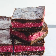 #recipe for this #raw choc raspberry slice is on the blog now!