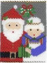 Resultado de imagen para beaded banners navideñas