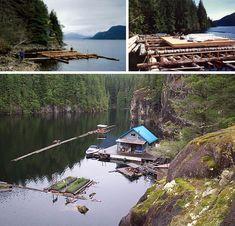 Houseboat? Hah! Buy a Full Floating Cabin, Porch & Garden   Designs & Ideas on Dornob