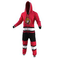 Ottawa Senators Hockey Jersey Pajamas – Red