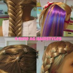 Enjoy!! These are some of my favorite hairstyles to do on my dolls :) Music: Apple By: Anna