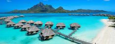 BoraBoaraFourSeasons: The Four Seasons Bora Bora has stunning overwater bungalows with tremendous views and a crystal-clear lagoon. PHOTO COURTESY FOUR SEASONS BORA BORA