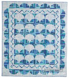 By the Sea, a Log Cabin quilt designed by Judy Martin. Quiltmaker July/August 2015 has the pattern.