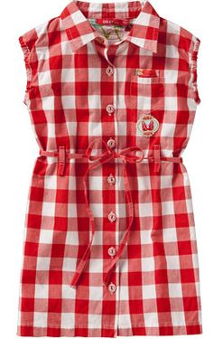 COVET- OILILY Dibet Red Checked Dress    Perfect picnic dress