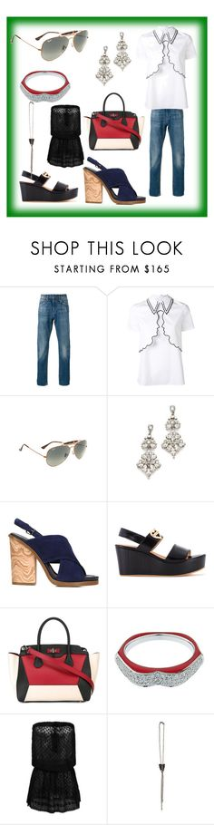 """Be always Beautyful"" by mkrish ❤ liked on Polyvore featuring Levi's Made & Crafted, VIVETTA, Ray-Ban, Ben-Amun, Vince, Love Moschino, Bally, Raphaele Canot, Melissa Odabash and Emanuele Bicocchi"