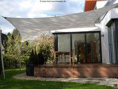 Faszination Sonnensegel - Lisori Sonnensegel Design Herford Backyard Shade, Pergola, Balcony, Terrace, Architecture, Outdoor Decor, Design, Gardening, Home Decor