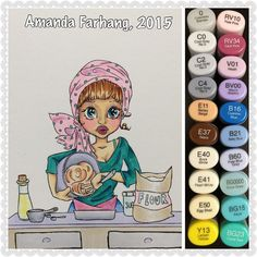 «This #digitalstamp is called #baker by #saturatedcanary. I printed it onto #neenahexactindex110lb card stock and colored it with #copic sketch markers.…»
