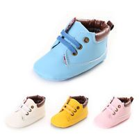 Baby Infant Toddler Boy Girl Newborn Soft Sole Crib Shoes Boots Size 0-18 Months