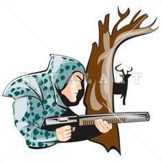 Clip Art Hunting Clip Art sports clipart image of black white bucks 10 point hunting game hunter riffle shotgun deer buck graphic