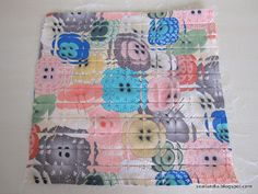 Fractured Quilt Block Tutorial | sewlandia This is so pretty, like looking at something in the rain.