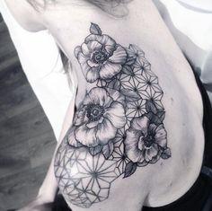 Geometric flowers tattoo                                                                                                                                                                                 More