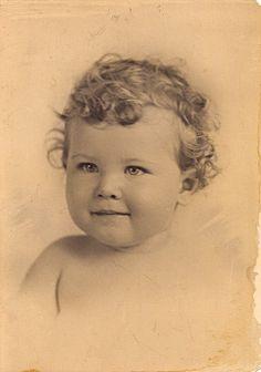 Vintage baby photo.
