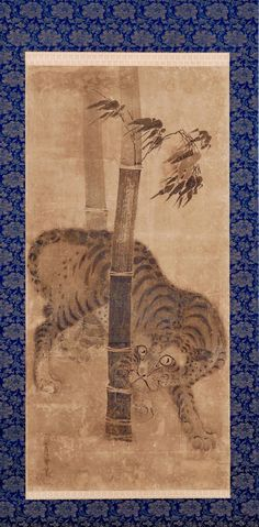 Soga Nichokuan (ca 1625-1660) | Tiger. Of a Tiger and Dragon scroll pair