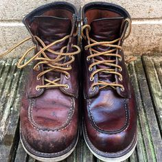 Boots Before the Mink Oil and after the Mink Oil menswear shoes fashion