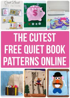 Quiet Book Templates, Quiet Book Patterns, Sewing Patterns For Kids, Templates Printable Free, Sewing Projects For Beginners, Sewing For Kids, Doll Patterns, Baby Patterns, Diy Quiet Books