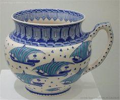 Turkish Tiles, Turkish Art, Love Blue, Blue And White, Blue China, White Porcelain, Persian, Pottery, Vase