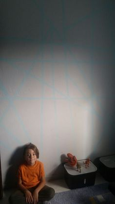 #wallart #diy #kidsroom #grey #lightblue #leiser