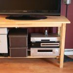 Organize cords behind TV, great simple way to get the cords under control