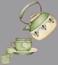 quenalbertini: Teacup and teapot illustration Photo Humour, Tea Quotes, Good Morning Coffee, Cuppa Tea, Cute Clipart, Teapots And Cups, Tea Art, Jolie Photo, High Tea