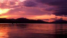 Sunset over Loch Lomond -- oh, the colors!