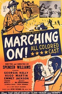 "Poster for ""Marching On"" (Spencer Williams film) Old Movie Posters, Movie Poster Art, Concert Posters, Old Movies, Vintage Movies, Spencer Williams, African American Movies, Great Comedies, Black Actors"