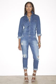 Jixer Denim Jumpsuit - If I was a super hero my outfit of choice would be a denim jumpsuit Tx