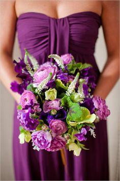 purple wedding bouquet