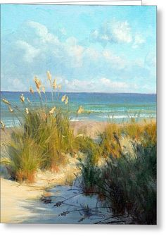 Sea Oats Greeting Card by Armand Cabrera