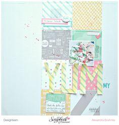 Layout Yummy - Scrapbook Werkstatt Designteam - Elle's Studio Let's Eat - designed by Alexandra Boehnke (Tandi-Works)