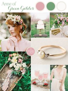 Modern Anne of Green Gables Wedding Inspiration in Blush and Spring Green