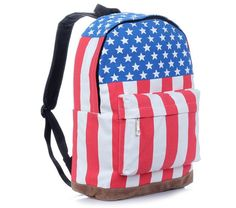 USA flag pattern travel backpack woman travel bagpack fashion hologram  travel backpack woman backpacks free shipping adc971c5b1