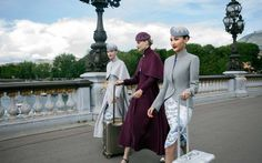 Couture-Inspired Airline Uniform - Hainan Airlines presented its collection of couture-inspired airline uniforms at Paris Fashion Week. Designed by Laurence Xu, the uniform takes in. Couture Week, Fashion Week, High Fashion, Paris Fashion, Fashion Trends, Hainan Airlines, Airline Uniforms, Haute Couture Designers, Fashion Magazine Cover