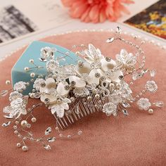 Find More Hair Jewelry Information about Hot selling handmade boutique hair comb comb wedding bridal hair accessory factory direct womens rhinestone Pearl hair comb B782,High Quality Hair Jewelry from The Sunny Day on Aliexpress.com