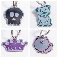 Plaquitas de identificación para tu mascota! #idtags for cats AND dogs.
