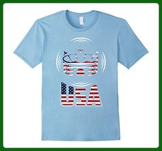 Mens Arena Football T Shirt with USA Flag Awesome T Shirt Large Baby Blue - Sports shirts (*Amazon Partner-Link)
