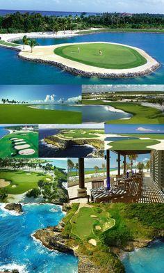 Punta Cana we could go golfing, ha, i would lose alot of balls!!