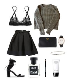 Sea of Shoes: Simple evening look  Sweater: Acne Skirt: Lanvin Bra: Mimi Holiday Shoes: Ann Demeulemeester Perfume: BLK DNM 11 Wallet: Prada Watch: Daniel Wellington Bracelet: Bottega Veneta CC Cream: Chanel