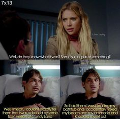 Hannah and Caleb pll Pll Quotes, Pll Memes, Tv Show Quotes, Pretty Little Liars Season 7 Spoilers, Pretty Little Liars Seasons, Pretty Little Liers, Misery Loves Company, Favorite Tv Shows, My Favorite Things