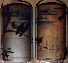 Inrō with Crows on Cherry Tree in Moonlight | Japan | Edo period (1615–1868) | The Met