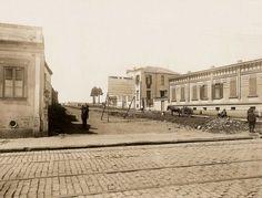 Rua da Consolação, entre as ruas Martinho Prado e Olinda, na altura onde hoje é a rua Nestor Pestana.